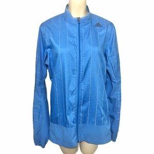 Adidas stripe running jacket size medium